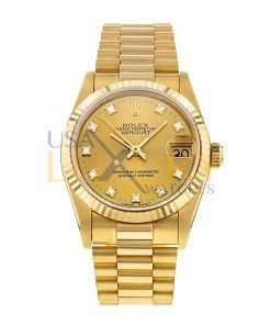 Rolex Datejust President 68278 Yellow Gold 31mm Watch