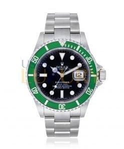 Rolex Submariner 16610LV Automatic Chronometer Kermit Black Dial Men's Watch