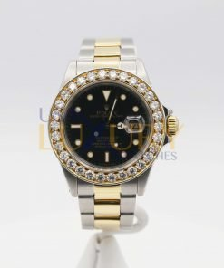 Rolex Submariner 16613 Black Dial Diamond Bezel Two-Tone Men's Watch