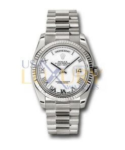 Rolex 118239 Day-Date Silver Dial 18K White Gold President Automatic Men's Watch