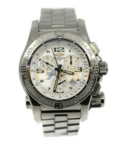 Breitling Emergency Mission A7332111-A557 Chronograph Chronometer White Dial Watch