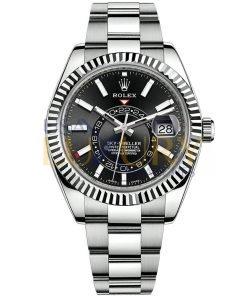 Rolex Sky-Dweller 326934 Black Index Dial and Oyster Bracelet Watch