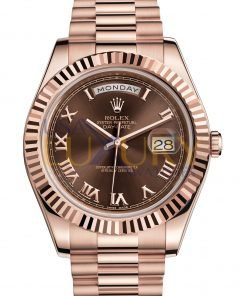 Rolex Day-Date 218235 Everose Gold with Chocolate Roman Dial Watch