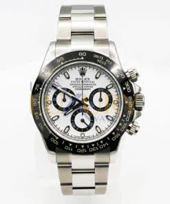 Rolex 116520 Daytona 40mm Stainless Steel Case Aftermarket White Dial & Black Bezel Watch