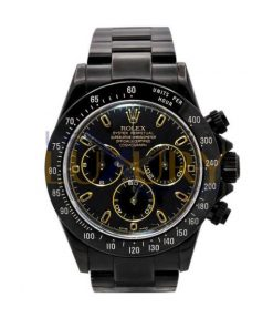 Rolex Daytona 116520 PVD Coated Stainless Steel Black Dial Watch
