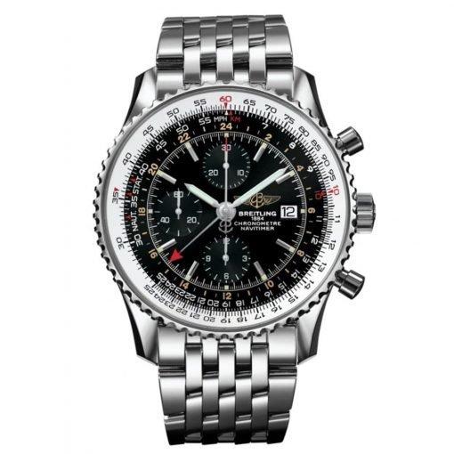 Breitling Watches Navitimer World Stainless Steel Navitimer Bracelet A2432212/B726