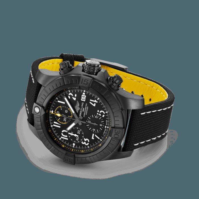 Breitling Avenger Chronograph 45 Night Mission, Black DLC coated titanium, 45mm, Black, V13317101B1X1