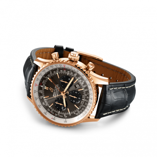 Breitling Navitimer B03 Chronograph Rattrapante 45, 18K Rose Gold, Anthracite dial, 45mm, RB0311E61F1P1
