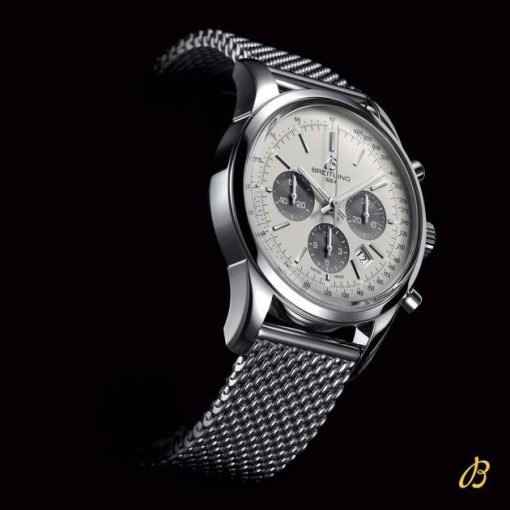 Breitling TRANSOCEAN CHRONOGRAPH, 43mm, Stainless Steel, Silver Dial, AB0152121G1A1