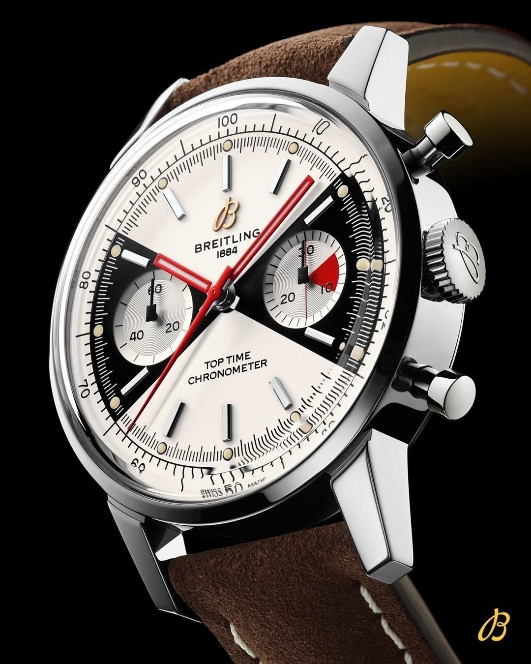 Breitling Top Time Limited Edition, Stainless Steel, 41mm, Cream and black dial, A23310121G1X1