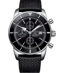 Breitling Men's Superocean Heritage II Chronograph 46, Stainless Steel, Volcano Black dial, A13312121B1S1