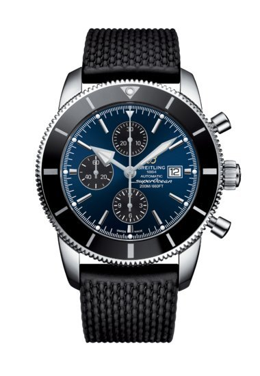Breitling Men's Superocean Heritage II Chronograph 46, Stainless Steel, Blue dial, A13312121C1S1