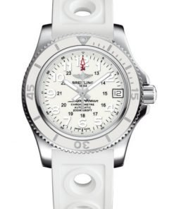 Breitling Ladies Superocean II 36, Stainless Steel, White-clad dial, A17312D21A1S1