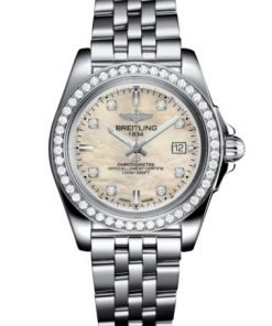 Breitling Ladies Galactic 32 Sleek, 32mm, Stainless Steel and Diamond set, Mother-Of-Pearl dial, A71330531A1A1