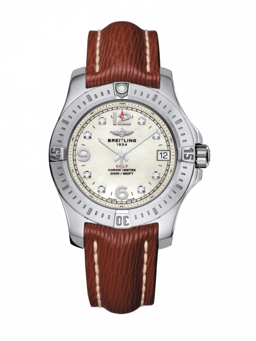 Breitling Ladies Colt 36, Stainless Steel, Pearl Diamond Dial, A74389111A1X1