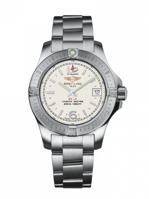 Breitling Colt Lady, Stainless Steel, 33mm, Stratus Silver Dial, A77388111G1A1