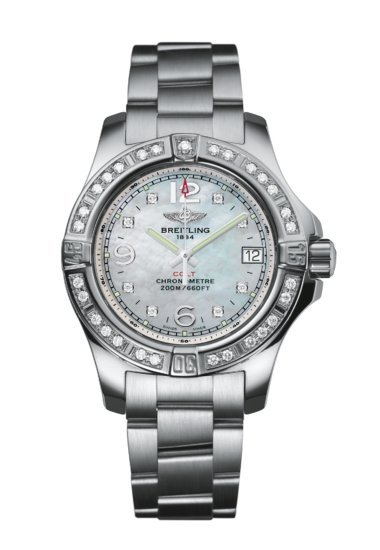 Breitling Colt Lady, Stainless Steel, 33mm, Mother-of-Pearl Dial, A77388531A1A1