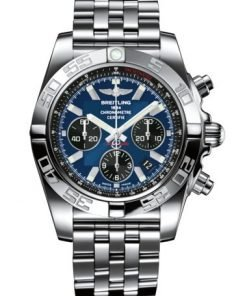 Breitling CHRONOMAT 44, Stainless Steel, Blue Dial, AB0110121C1A1