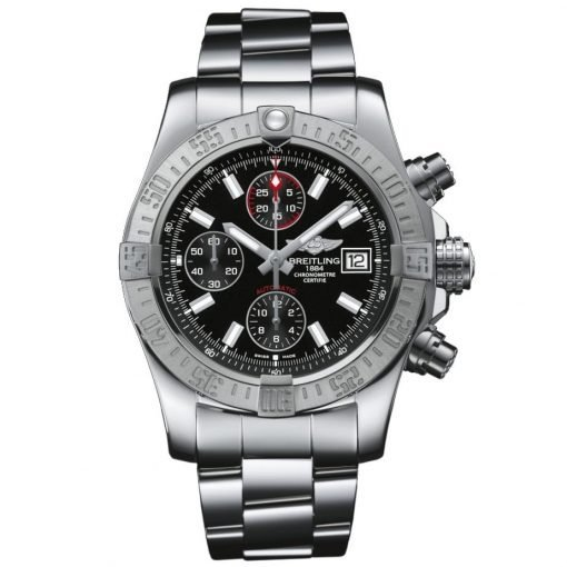 Avenger II Black Dial Chronograph Stainless Steel Automatic Mens Watch Item A1338111/BC32SS