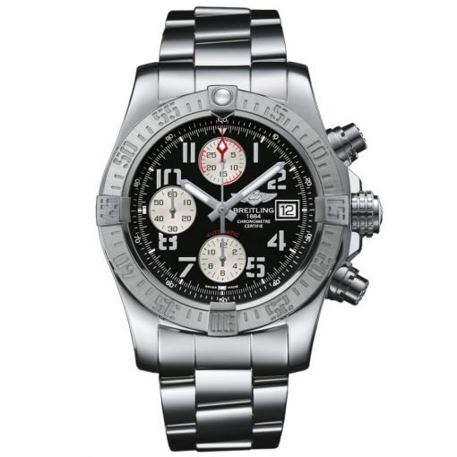 Avenger II Black Dial Chronograph Stainless Steel Automatic Mens Watch Item A1338111/BC33 170A