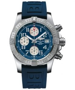 Avenger II Blue Dial Chronograph Blue Rubber Automatic Mens Watch Item A1338111/C870 157S