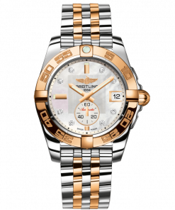 Breitling Women's GALACTIC 36 AUTOMATIC, 36mm, Stainless Steel and 18k Rose Gold, White mother-of-pearl Dial, C37330121A2C1