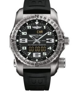 Breitling Men's EMERGENCY, Titanium Case, Volcano Black Dial, E7632522/BC02/156S/E20DSA.4