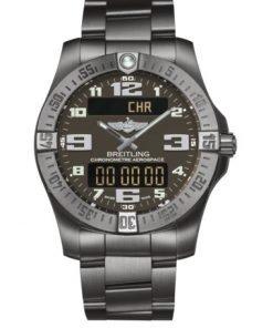 Breitling Men's AEROSPACE EVO, 43mm, Titanium, Anthracite Dial, E79363101F1E1