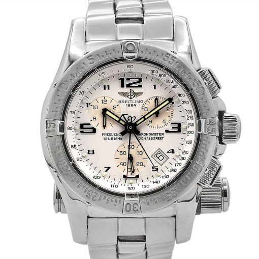 Breitling Emergency Mission, 45mm, Stainless Steel, White dial, A7332111-A557