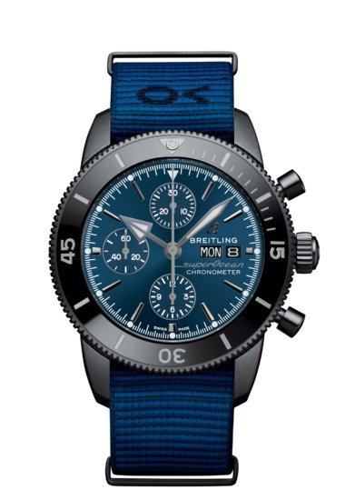 Breitling SUPEROCEAN HERITAGE CHRONOGRAPH 44 OUTERKNOWN, Black ion-plated stainless steel, ceramic, Black Dial, M133132A1C1W1