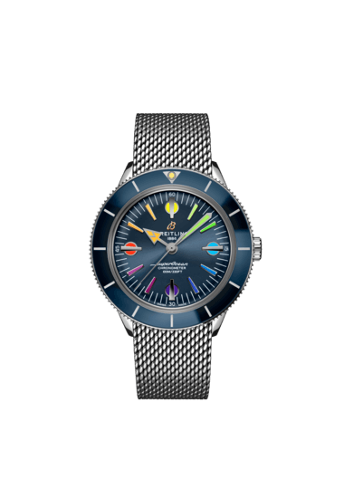 Breitling Superocean Heritage'57 Limited Edition II, Stainless Steel, Blue dial, A103702A1C1A1