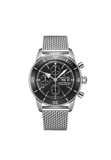 Breitling Superocean Heritage Chronograph 44, Stainless Steel, Black dial, A13313121B1A1