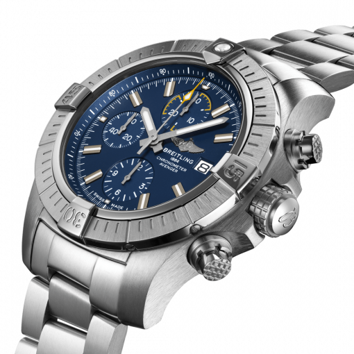 Breitling Avenger Chronograph 45, Stainless Steel, Blue dial, A13317101C1A1