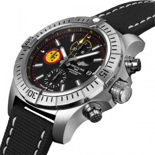 Breitling Avenger Chronograph 45 Swiss Air Force Team Limited Edition, Stainless Steel, Black dial, A133171A1B1X1