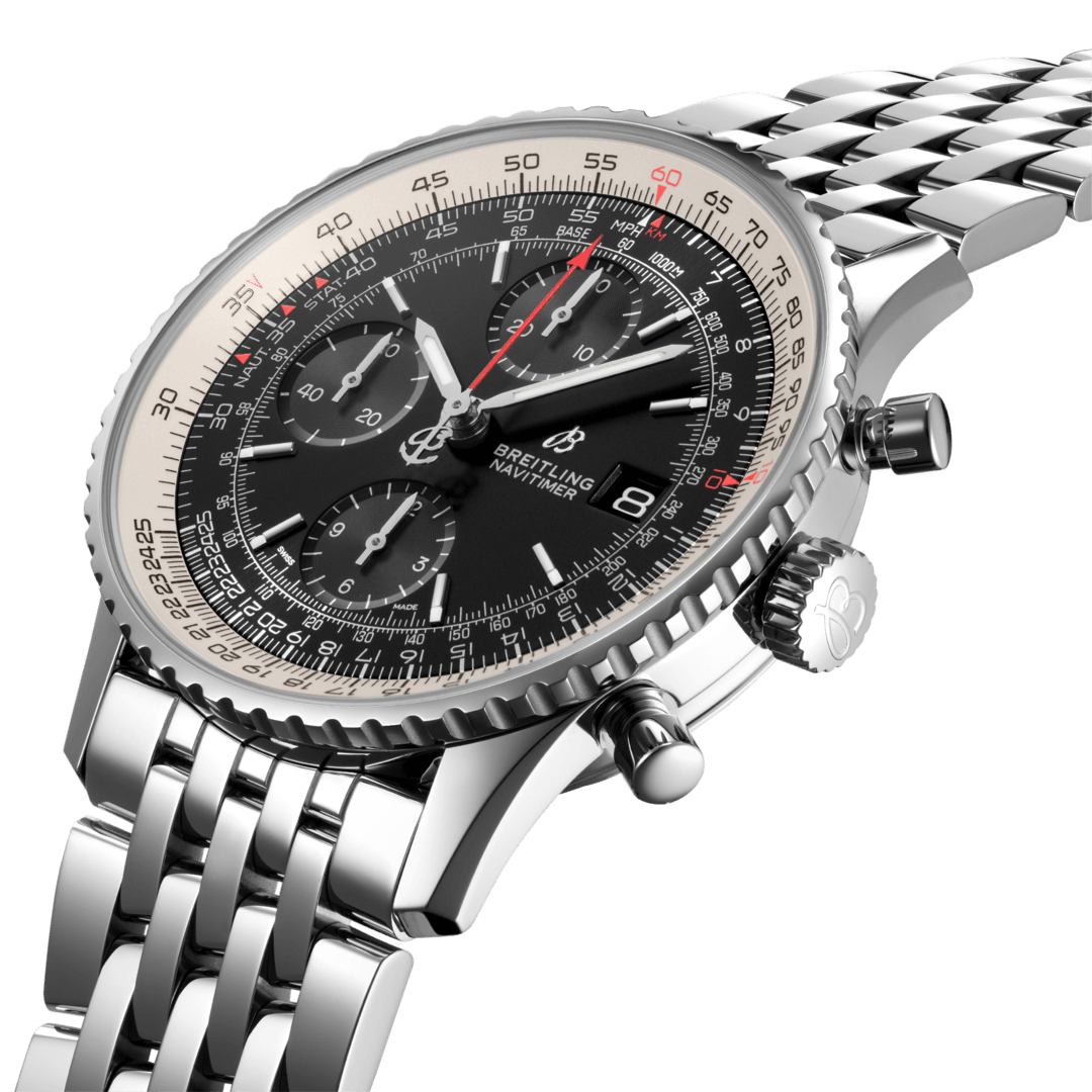 Breitling Navitimer Chronograph 41, Stainless Steel, Black dial, A13324121B1A1