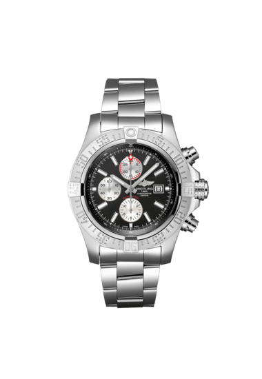 Breitling Super Avenger II, 48mm, Stainless Steel, Volcano Black dial, A13371111B1A1