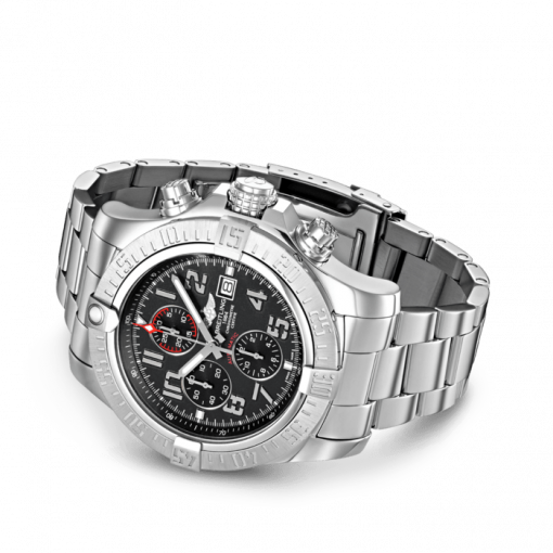 Breitling Super Avenger II, 48mm, Stainless Steel, Volcano Black dial, A13371111B2A1