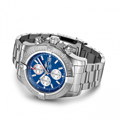 """Breitling Super Avenger II, 48mm, Stainless Steel, """"Mariner Blue"""" dial, A13371111C1A1"""