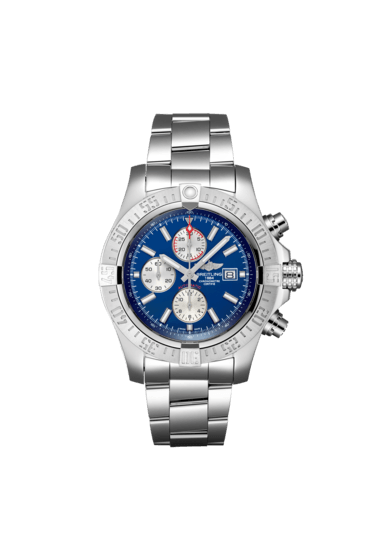 "Breitling Super Avenger II, 48mm, Stainless Steel, ""Mariner Blue"" dial, A13371111C1A1"