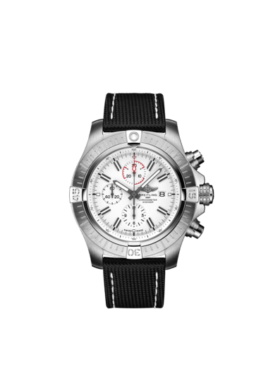 Breitling Super Avenger Chronograph 48, Stainless Steel, White dial, A133751A1A1X1