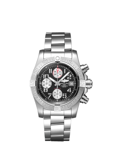 """Breitling Avenger II, 43mm, Stainless Steel, """"Volcano Black"""" dial, A13381111B2A1"""