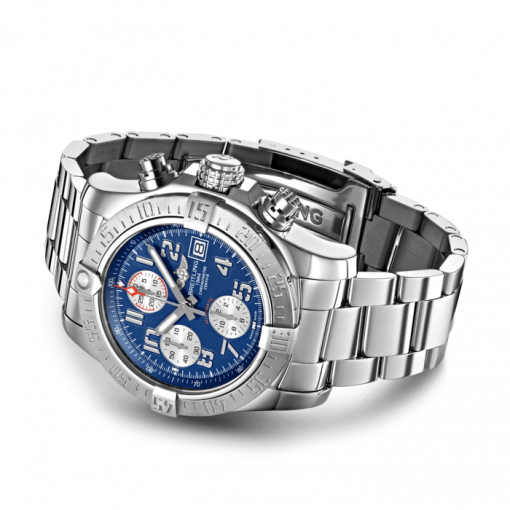 """Breitling Avenger II, 43mm, Stainless Steel, """"Mariner Blue"""" dial, A13381111C1A1"""