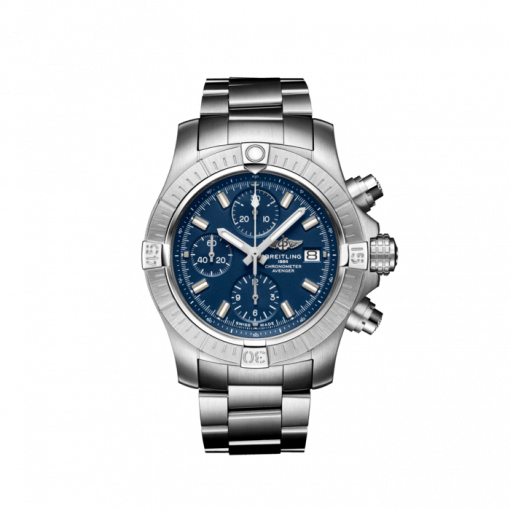 Breitling Avenger Chronograph 43, Stainless Steel, Blue dial, A13385101C1A1