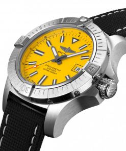 Breitling Avenger Automatic 45 Seawolf, Stainless Steel, Yellow dial, A17319101I1X1