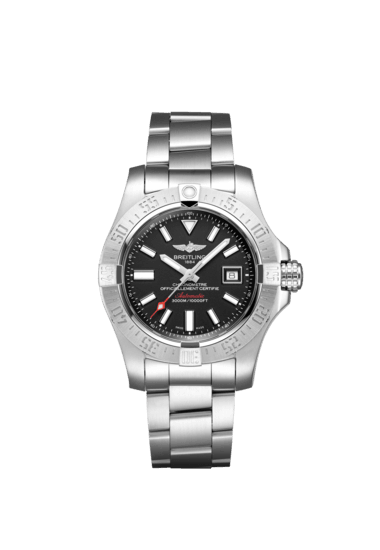 "Breitling Avenger II Seawolf, Stainless Steel, 45mm, ""Volcano Black"" dial, A17331101B1A1"