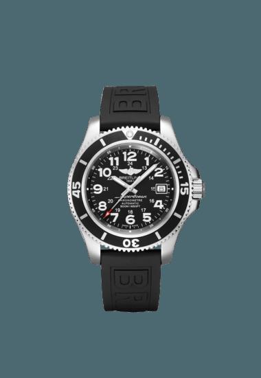 Breitling Men's SUPEROCEAN II 42, Stainless Steel, Black dial, A17365C91B1S2