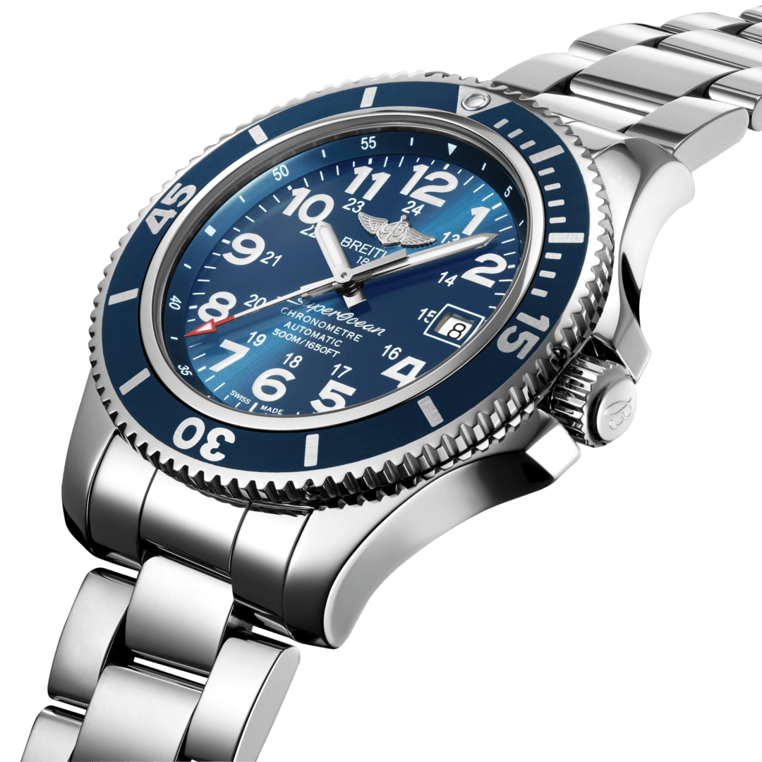 Breitling Men's Superocesn II 42, Stainless Steel, Black dial, A17365D11C1A1