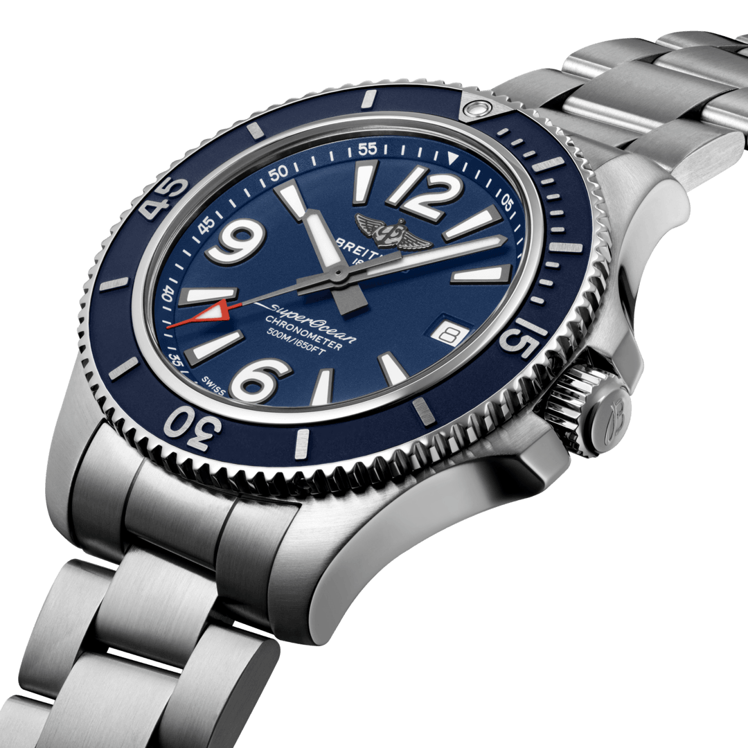 Breitling Men's Superocean Automatic 42, Stainless Steel, Blue dial, A17366D81C1A1