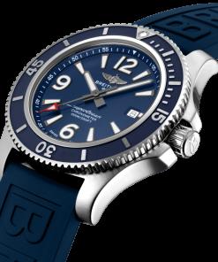 Breitling Men's Superocean Automatic 44, Stainless Steel, Blue matt dial, A17367D81C1S2