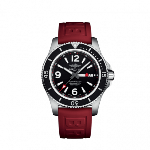 Breitling Men's Superocean Automatic 44 Ironman Limited Edition, Stainless Steel, Black dial, A17371A11B1S1
